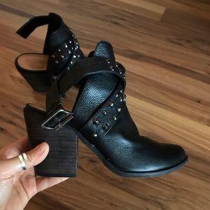 Western Style Open Heel Booties